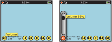 Tooltips are most often used to explain controls which do not carry a label, such as these video playback controls. Due to familiarity and use of standard symbols, the labels have been eliminated; a tooltip helps anyone who may be confused, by appearing after a delay which may indicate indecisiveness. Tooltips may also show current state of a control setting, such as the volume level on the right.